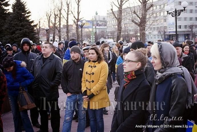 Встреча горожан за мир в Луганске и Украине